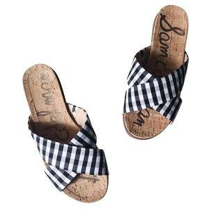 80fb306ff1e0 Sam Edelman Coachella Cork Slides Sandals Size 9